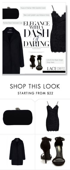 """Pretty Lace Dress"" by burcuciz ❤ liked on Polyvore featuring House of Harlow 1960, New Look, Rochas, Lulu*s and lacedress"