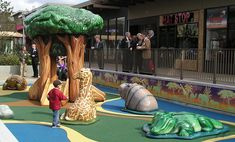 New animal-themed outdoor soft play park at Cross County Shopping Center in Yonkers, NY. For more information on Center Stage play parks, visit: www.cspdisplay.co....
