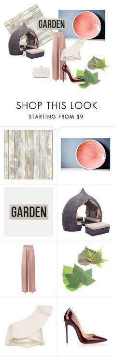 """Garden Night"" by avoryfleece ❤ liked on Polyvore featuring RoomMates Decor, Cushnie Et Ochs, Sur La Table, Isabel Marant, Christian Louboutin and Serpui"