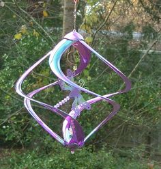 Dragonfly Purple Acrylic Wind Spinner