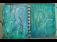 Art Journal Book of Backgrounds 2013 Session 2 - YouTube