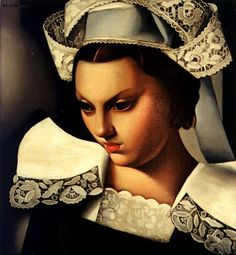 La Bretonne (1934) ~ by Tamara De Lempicka (1898-1980): Polish born American Art Deco painter. http://fleetingfancies.tumblr.com/page/20