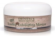 Eminence Rosehip and Maize Exfoliating Masque nourishes and refines the look and feel of your skin tone. Maize flour and salicylic acid softly eliminate dead skin cells and pore-clogging toxins to reveal clear, radiant skin. Antioxidant-rich rosehip extract and honey band together to rejuvenate moisture and essential nutrients, providing a healthy glow and silky-smooth texture.