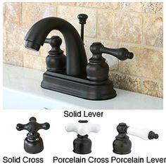 Oil Rubbed Bronze Classic Double-handle Bathroom Faucet - Overstock™ Shopping - Great Deals on Bathroom Faucets