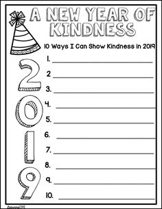 Celebrate the New Year, Resolutions and Kindness Challenge! - Writing for 2020 Teaching Writing, Writing Activities, Classroom Activities, Teaching Tools, Teaching Resources, Teaching Ideas, Classroom Projects, Class Projects, Writing Ideas