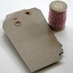 100 Large Shipping Paper Tags  Natural Brown Kraft Hang by InTheClear, $16.25