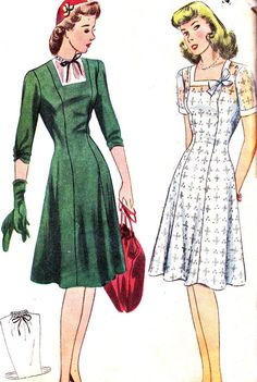 Vintage Sewing Pattern 1940s Simplicity 4715 Day by paneenjerez, $18.00