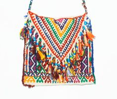 Vintage Ethnic  Tribal Hand Embroidered Bag by redpoppyvintageshop