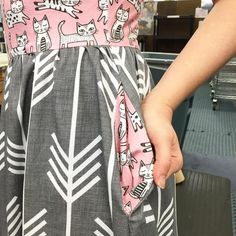 Colette Moneta dress made with Spoonflower fabric from Sprout Patterns!