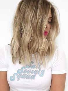 Repinned by: @adison_smart Do you want to try a new and fresh medium to long hairstyles to obsessed and attractive hair looks? Medium length blonde haircuts are awesome way for women to sport in 2018. These are kinds of hair colors and highlights which are associated with femininity, elegance and cuteness in these days. Women like it so much.
