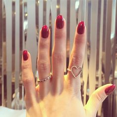 Millie Mackintosh wearing our Heart Ring