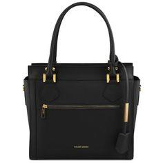 Lara - Leather handbag with front zip - TL141644