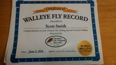 Scott Smith from Oshawa, Ontario, received his Ontario Fly Fishing Records Certificate in the mail a few days ago! He told us that he loves fly fishing, it is who he is. He said that this is proof, and there is way more to come! Gotta love Ontario! Congratulations Scott and tight lines. Thanks for sharing Scott and thank you for submitting your catch to Ontario Fly Fishing Records! If any of you would like to be recognized for your latest catch, submit it at…