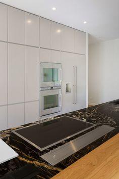 new kitchen by KMD Kitchens Auckland New Kitchen Designs, Kitchen Renovations, Beautiful Kitchens, Auckland, Storage, Building, Modern, Furniture, Home Decor