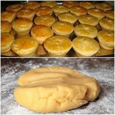 INGREDIENTES 3 xícaras (chá) de farinha de trigo 1 xícara (chá) de manteiga ou margarina 2 ovos (um para pincelar) 1 colher (sopa) de fermento químico em pó 1/2 xícara (chá) de leite 1 colher (chá) de sal COMO FAZER 1 – Em uma tigela, coloque a farinha de trigo, faça uma covinha no meio… Portuguese Recipes, Food Inspiration, Love Food, Cake Recipes, Food Porn, Food And Drink, Cooking Recipes, Yummy Food, Favorite Recipes