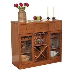 TMS Sedona 6 Bottle Tabletop Bar Cabinet