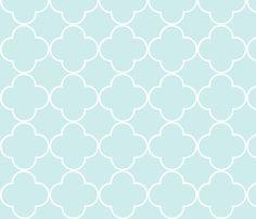 quatrefoil 2 Medium - sea fabric by drapestudio on Spoonflower - custom fabric