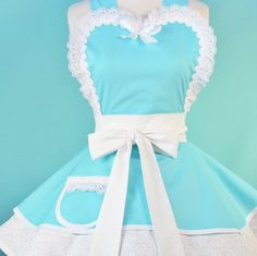 So in love with this!!!!!!! Tiffany blue apron-made by Dot's Diner