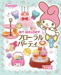 My Melody Flower Party Re-Ment miniature blind box 1