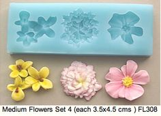 Silicone push molds for fondant icing