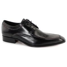 Sapato Social Jorge Bischoff 254183JB Preto | Zariff Flatform, Fashion Shoes, Mens Fashion, Shoes Men, Leather Shoes, Derby, Oxford Shoes, Dress Shoes, Lace Up