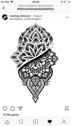 Mandala Thigh Tattoo, Geometric Mandala Tattoo, Geometric Tattoo Design, Mandala Tattoo Design, Full Arm Tattoos, Dot Tattoos, Time Tattoos, Sleeve Tattoos, Mehndi Designs