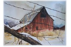 Beautiful painting of a barn !!!!!!!!!!!