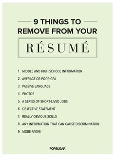 Here are several outdated things to remove from your resume. #ChangeIsGood #CapstoneResume #ResumeTips