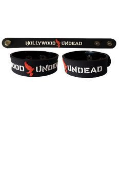 Hollywood Undead Rubber Bracelet Wristband Rock Band Black 2 Step adjust 1 piece per order $4.57