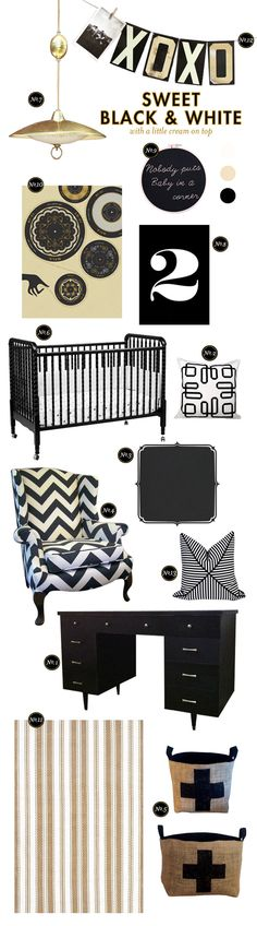 I know this is a nursery, but I love the netrual pallet.  The wall color could be anything even dark gray and would look fantastic!
