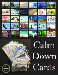 These cards are perfect to use visual imagery for a quick calm down break.  Download the Just Breathe poster.