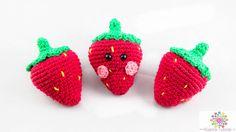Erdbeere,Häkeln,Anleitung,Amigurumi,Essen,Früchte,Happy Food, niedlich ,Anfänger,Anleitung,DIY, Handmade
