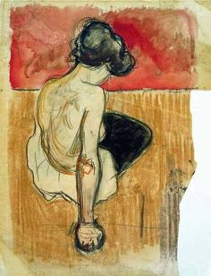 Edvard Munch, Modèle Assis on ArtStack #edvard-munch #art