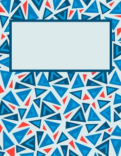 Triangle Binder Cover