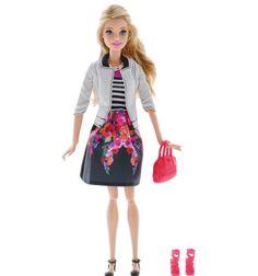 Кукла Barbie ( Кукла Барби ) Fashionistas Делюкс в черной юбке в цветочек | Barbie.Ru | Барби в России