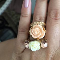 ❗️Lovely Spring Fashion Ring Set Get ready for spring with these beautiful rings! Put them together with an outfit or separate to match different styles! Make me an offer! Jewelry Rings