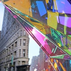 Christmas in NYC really is made of magic! Behold — #SoftLab's #NovaFlatiron holiday installation; a human scale kaleidoscope all setup at the foot of the iconic FlatIron Building.