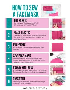 Make this face mask pattern with a tiny bit of fabric and elastic. The pattern is simple enough even for beginner sewers Make this face mask pattern with a tiny bit of fabric and elastic. The pattern is simple enough even for beginner sewers Sewing Blogs, Sewing Hacks, Sewing Tutorials, Sewing Crafts, Sewing Projects, Sewing Tips, Sewing Ideas, Diy Crafts, Diy Mask