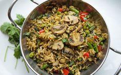 Mushroom and pepper biryani recipe - Telegraph