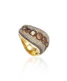 Look at this Suzy Levian Chocolate Cubic Zirconia & Gold Anniversary Band on #zulily today!