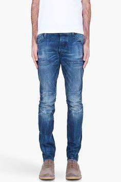 G-Star Blue 3d Super Slim Jeans for men   SSENSE