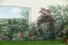 Wandmalerei in einem Garten, in Berlin Zehlendorf.