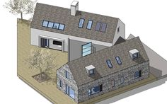 4 Bedroom Modern House Plans - √ 16 4 Bedroom Modern House Plans , Modern Style House Plan with 4 Bed 6 Bath 3 Car Modern Bungalow House, Rural House, Bungalow House Plans, Bedroom House Plans, Modern House Plans, New House Plans, House Designs Ireland, Bungalow Extensions, Cottage Extension