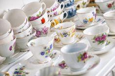 Loads of beautiful china cups.