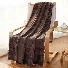 "Flannel Blankets Bed Blanket W70""×L79""""Super Soft Warm and Easy Care Strip Pattern 5102523 2017 – $58.62"
