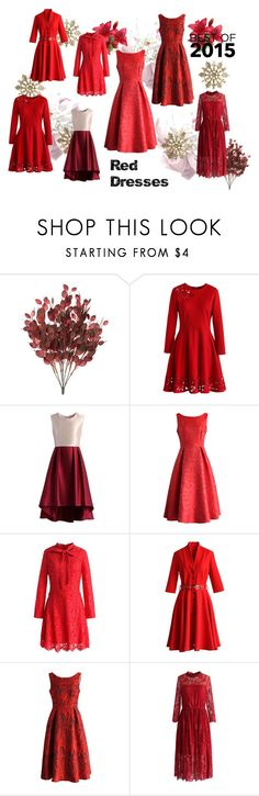 """The Best 2015 Red Dresses"" by chicwish ❤ liked on Polyvore featuring Chicwish"