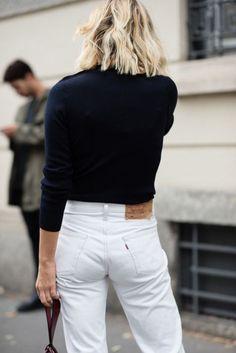 White 501's minimal chic || @sommerswim