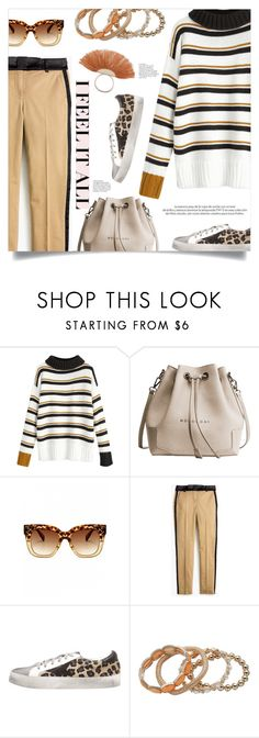 """""""Striped Sweater"""" by mahafromkailash ❤ liked on Polyvore featuring J.Crew and Louis Vuitton"""
