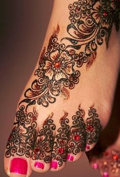 Mehndi Design with Motifs 25 Fabulous Foot Mehndi Designs for Your Next Event