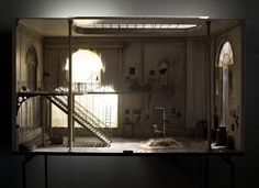 Miniature interiors in a box by Charles Matton